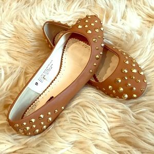 Urban Outfitters Studded Camel Flats!